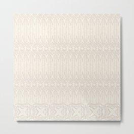 Cream and Coffee Chenille Digital Pattern Metal Print
