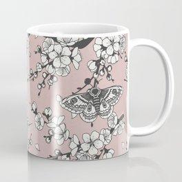 Cherry Blossom and Moths Coffee Mug