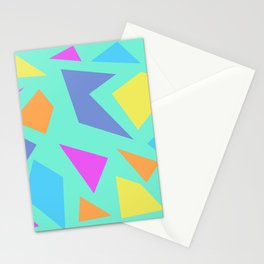 Mint Shapes Stationery Cards