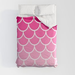 Ombre Fish Scale In Strawberry Comforters
