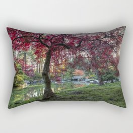 Japanese Maple Sunburst Rectangular Pillow