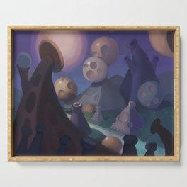 Abstract Fantasy Serving Tray