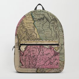 Vintage Map Print -de l'Isle -  South America, Color (1730) Backpack