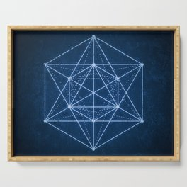 Sacred geometry / Minimal Hipster Symbol Art Serving Tray