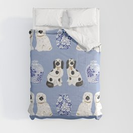 Staffordshire Dogs + Ginger Jars No. 1 Comforters