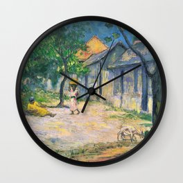 Charles Laval - Village in Martinique - Digital Remastered Edition Wall Clock