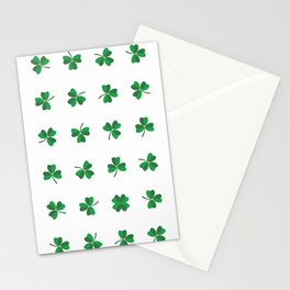 find a lucky clover! Stationery Cards