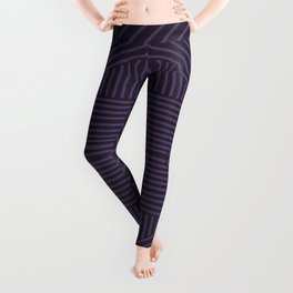 Royal purple lines on mudcloth Leggings