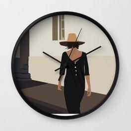 Walk. Minimalist illustration Wall Clock