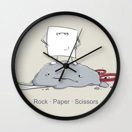 Rock Paper Scissors by dana alfonso Wall Clock