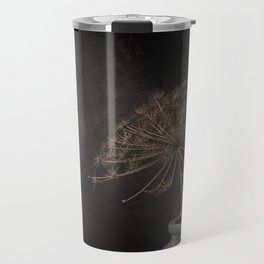 Still life with dried branch giant hogweed in stone jug Travel Mug