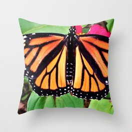 The Monarch Shows A Glimpse Of Trust Throw Pillow