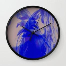 double Kate blues (kate moss) Wall Clock