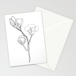 """Botanical Collection"" - Magnolia Flower Print Stationery Cards"