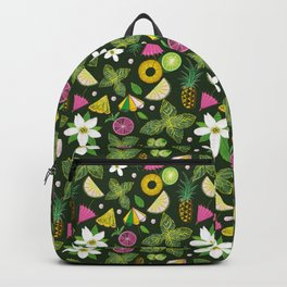 Pineapple mojito with mint leaves Backpack