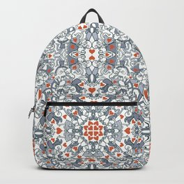 Kisses of love in a mandala design for Valentine's Day Backpack