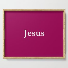 Jesus 7 purple Serving Tray