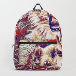 German Shepherd Portrait for Lovers of this gentle breed Backpack