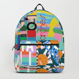 80's Postmodern Travel Postcards Backpack