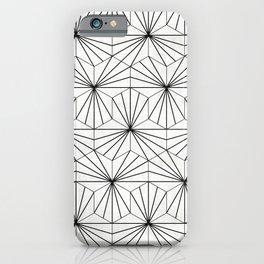 Hexagonal Pattern - White Concrete iPhone Case
