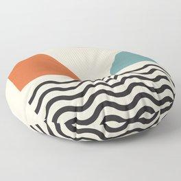 Fine Art Prints - Modern Abstract Wall Art Print, Mid Century Prints - Abstract Print, Modern Retro Floor Pillow