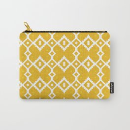 Yellow Chevron Diamond Pattern Carry-All Pouch