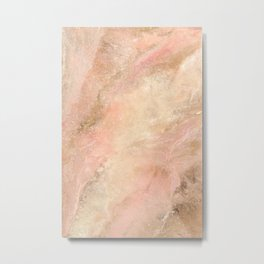 Abstract Organic Marbled Texture Metal Print