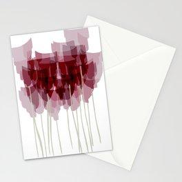 Dark Red Goblet Flower Bunch Stationery Cards
