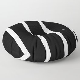 BLACK AND WHITE STRIPES #black #white #stripes #minimal #art #design #kirovair #buyart #decor #home Floor Pillow