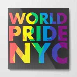 WORLD PRIDE NYC Metal Print