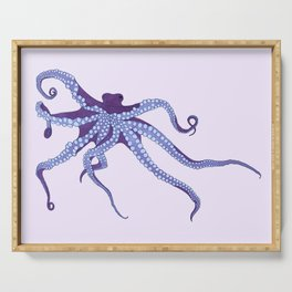 Awesome Purple Octopus Serving Tray