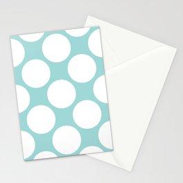 Polka Dots Blue Stationery Cards