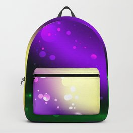 Abstract Mardi Gras Background Backpack