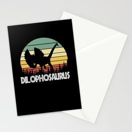 dilophosaurus. Gift for dinosaur lover Stationery Cards