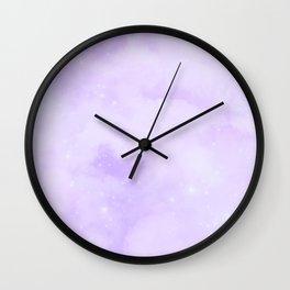 Pastel Cloulds Sky Seamless Nebula 177 Wall Clock