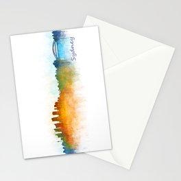 Sydney City Skyline Hq v3 Stationery Cards