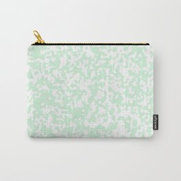 Small Spots - White and Pastel Green Carry-All Pouch