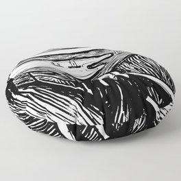 Edvard Munch The Scream 1895 Lithograph Reproduction Artwork for Prints Posters Tshirts Men Women Ki Floor Pillow