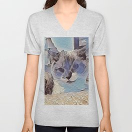 Glacier Cat. (Sugar Puss) Unisex V-Neck