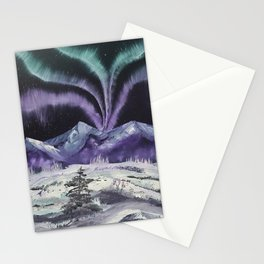 Aurora the Fabulous - Dancing lights Stationery Cards