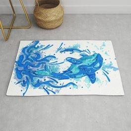 Blue Orca Whale Rug