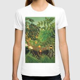 "Henri Rousseau ""Monkeys in the jungle - Exotic landscape"" T-shirt"
