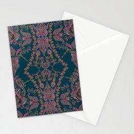 Emerald Gipsy Paisley Stationery Cards