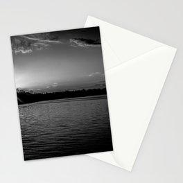 Sundown At Lake Heve 3 bw Stationery Cards