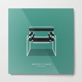 Wassily Chair - Marcel Breuer Metal Print