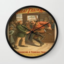 Vintage poster - The Great Train Robbery Wall Clock
