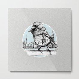 Berlin Sparrow Metal Print
