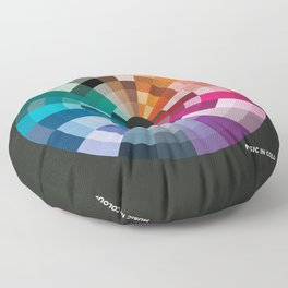 Music In Colour Floor Pillow