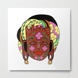 Madagascar Mask Metal Print