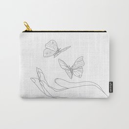 Butterflies on the Palm of the Hand Carry-All Pouch